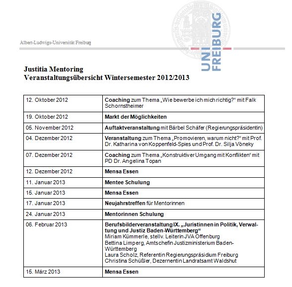 Wintersemester 2012/2013