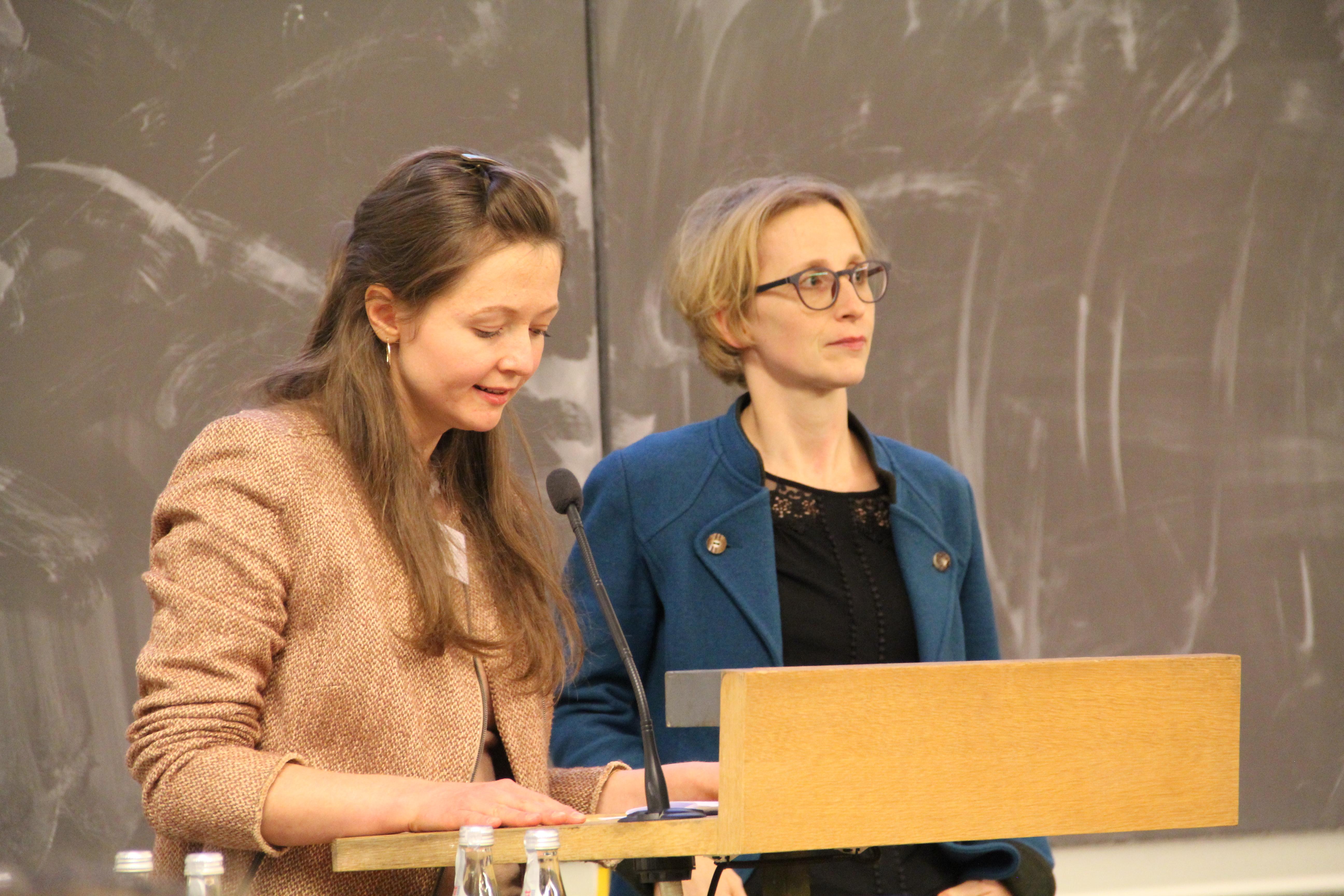 Dina Reis und Dr. Lena Kühnbach, Gründungsmitglied Justitia Mentoring