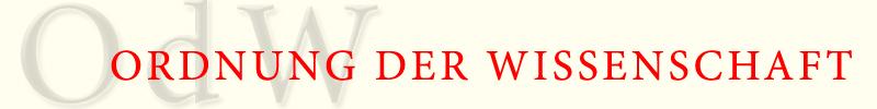 """Logo """"Ordnung der Wissenschaft"""""""