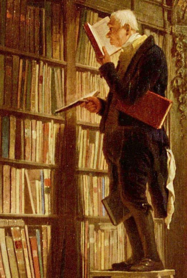Bücherwurm, Carl Spitzweg
