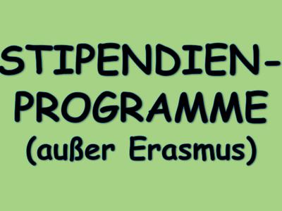 Grafik Stipendien-Programme